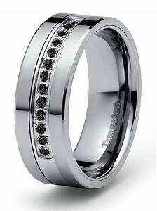 8mm 021ct black diamond tungsten modern men39s wedding With mens black tungsten wedding rings