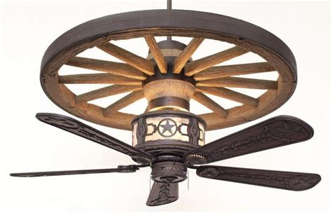 wagon wheel ceiling fan rustic lighting and fans