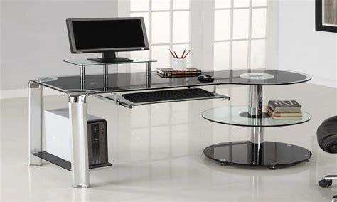 modern glass computer desk design office desk glass computer desk modern computer