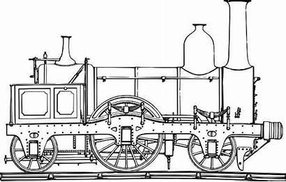 Steam Train Coloring Draw Locomotive Template Netart