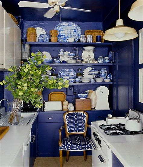 kitchen island design for small kitchen inspiring blue kitchen décor ideas homesfeed