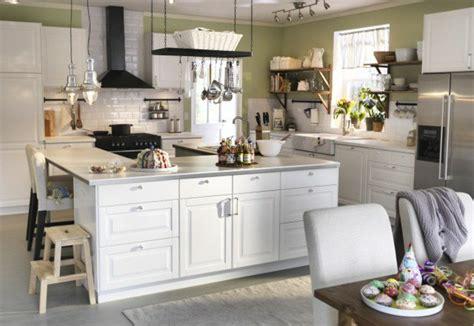 cuisines blanches design ilot central blanc cuisine en image