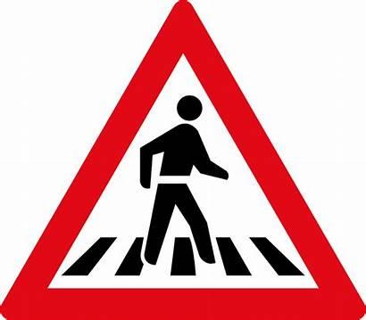 Crossing Pedestrian Sign Pedestrians Road W306 Signs