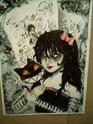 Creepy Girl with Cat