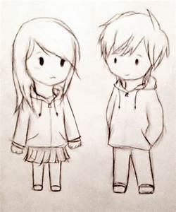 Cute Couple Pic Sketch Cute Couple Commissionimaginaryfox ...