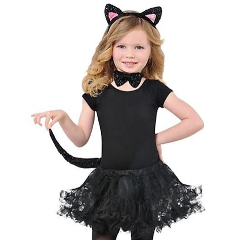 cat costume set childrens black cat set ears bow tie fancy