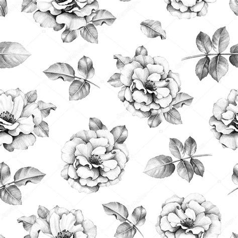 disegni di fiori a matita modello senza cuciture con disegni a matita di fiori