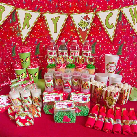 how the grinch stole christmas birthday party ideas home