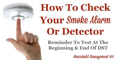 check smoke alarm a important safety tip