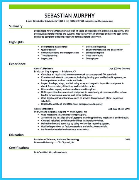 Resume Format For Aviation Industry by Learning To Write A Great Aviation Resume
