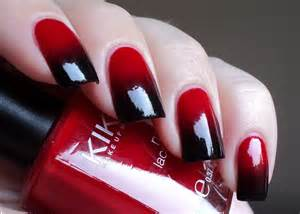 Red black stylish nail art design trends for girls womens