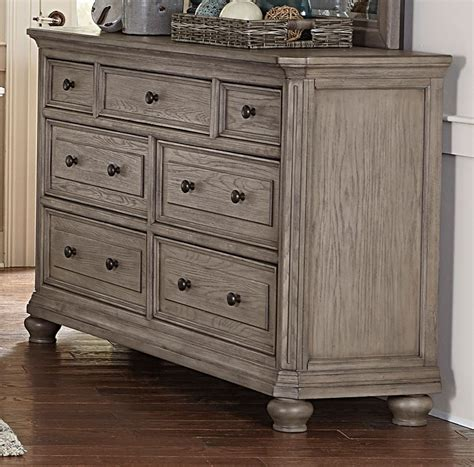rc willey dresser traditional gray oak 6 king bedroom set lavonia