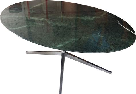 table florence knoll green marble oval table florence knoll 1980s design