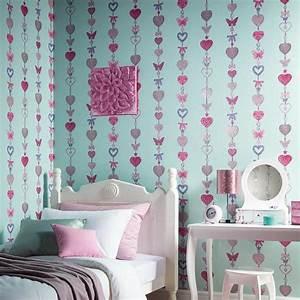 Papier Peint Chambre À Coucher : arthouse paillet papier peint enfants chambre coucher filles licorne sir ne ebay ~ Nature-et-papiers.com Idées de Décoration