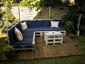 Terrasse Avec Palette : 3 tapes pour la construction d 39 une terrasse en palette photos ~ Melissatoandfro.com Idées de Décoration