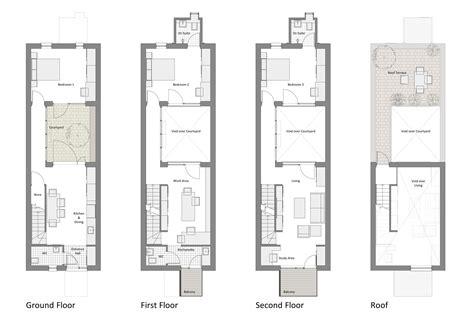 Row Home Plans by Narrow Row House Floor Plans Search Row Houses