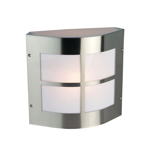 firstlight ip44 square outdoor wall light stainless steel