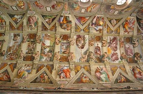 Painted The Ceiling Of The Sistine Chapel In Rome by How Michelangelo Painted The Sistine Chapel Great Names