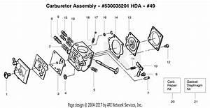 Poulan Pp336 Gas Saw  Pp336 Parts Diagram For Carburetor Hda  49
