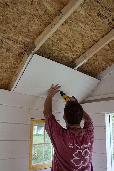 install shiplap walls southern living shed