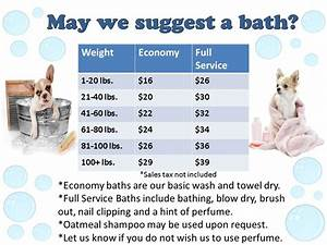 Bath prices toothacres petcare center for Dog boarding cost