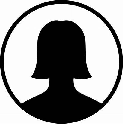 Icon Female Profile Gender User Avatar Circle