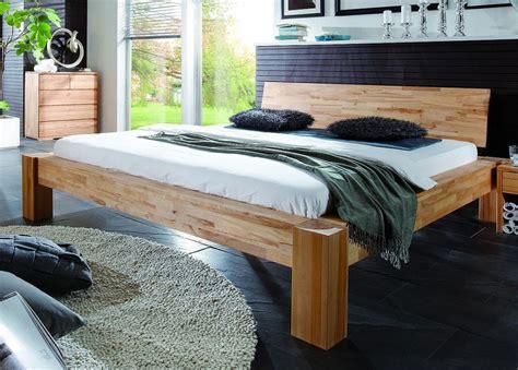 Massivholz Balkenbett Holzbett Doppelbett Buche Massiv