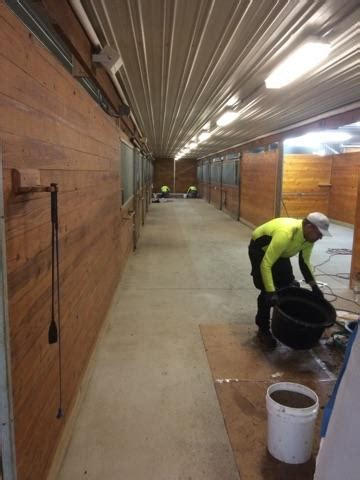 polylast flooring in polylast instillation at canterbury stables polylast systems