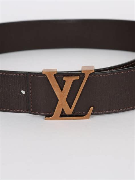 louis vuitton lv initiales brown utah leather belt  luxury bags