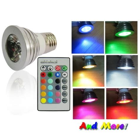led color changing light bulb with wireless remote alex nld