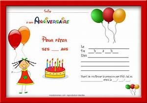 Carte Anniversaire Pour Enfant : coloriage carte invitation anniversaire cartes invitation anniversaire fille cadre rouge ~ Melissatoandfro.com Idées de Décoration