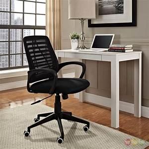 Ardor, Modern, Ergonomic, Office, Chair, W, Mesh, Backing, U0026, Padded, Seat, Black