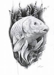 carp tattoo by AndreySkull.deviantart.com on @DeviantArt ...