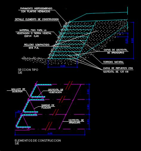 green wall dwg section  autocad designs cad