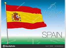 Spain flag, 2018 World Cup — Stock Vector © frizio #173923960