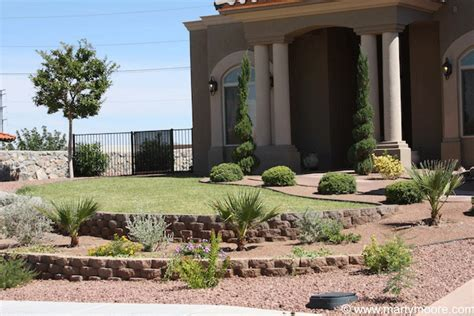 desert front yard landscaping terraced block walls desert landscaping pinterest