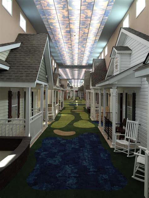 assisted living facility realistically designed    cute neighborhood street