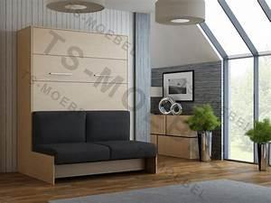 Schrankbett Mit Integriertem Sofa : wandbett mit sofa wbs 1 classic 140 x 200 cm in buche ~ Michelbontemps.com Haus und Dekorationen