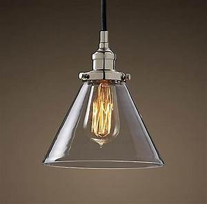 Antique chrome cap glass pendant lighting contemporary