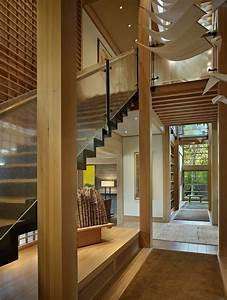 Contemporary, House, In, Seattle, With, Japanese, Influence