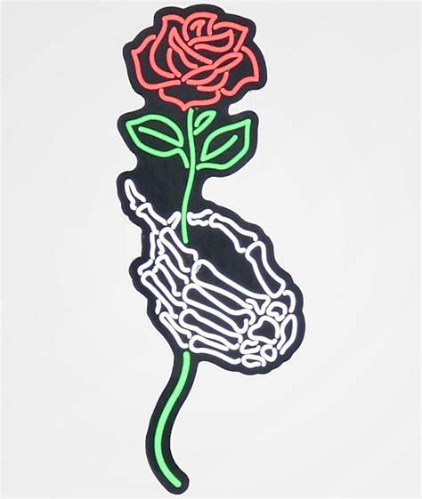 N°Hours Skeleton Hand & Rose Sticker | Zumiez
