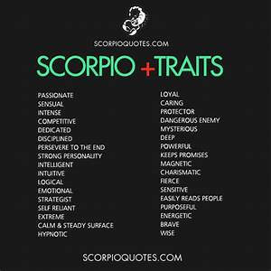33 Scorpio Positive Traits List   Scorpio Mars   Pinterest ...