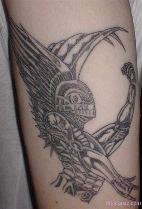 tribal angel tattoo design ideas pictures gallery