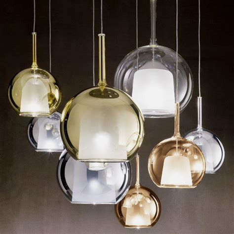 luxury pendant light with like glass around it