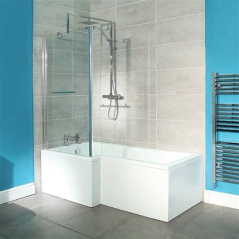 1800 X 850 Left Hand Lshaped Shower Bath