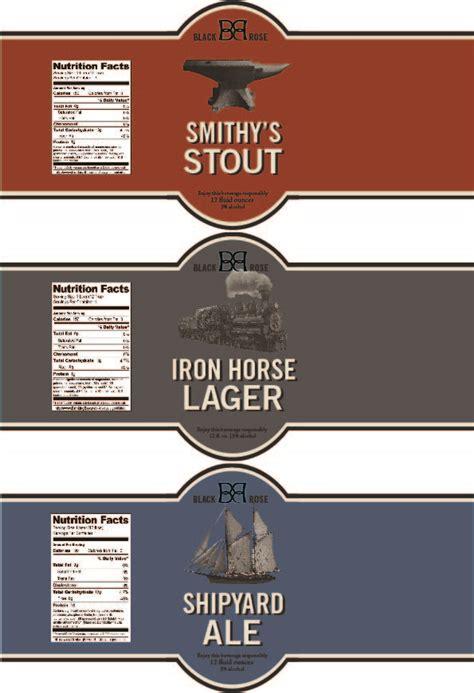 beer bottle label template printable label templates