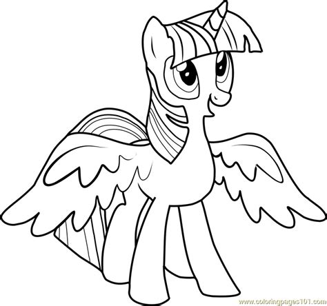 Twilight Sparkle Coloring Pages To And Print For Free Twilight Sparkle Coloring Pages To Print