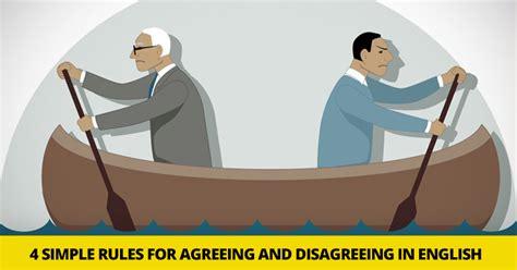 simple rules  agreeing  disagreeing  english