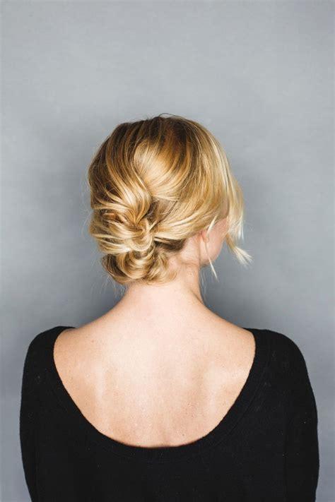 holiday hair tutorial  easy short hair updo anne sage