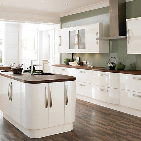 tiles to go with white gloss kitchen cooke lewis high gloss kitchen ranges kitchen 9798